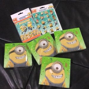 New! Dispicable Me Minons Party Stuff